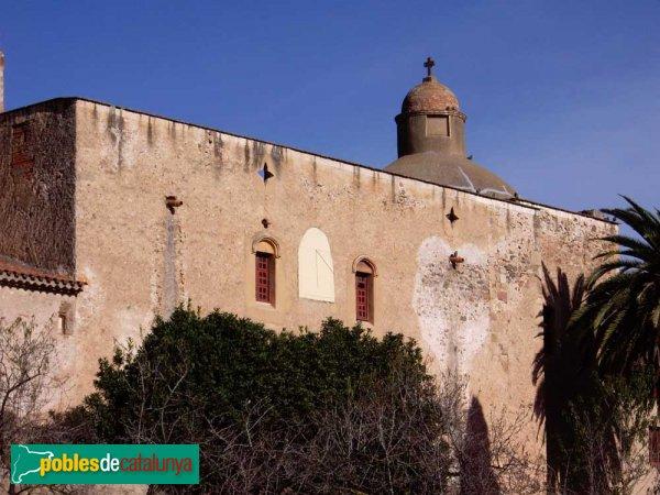 Sant Julià d'Altura, façana lateral i detall de la part posterior