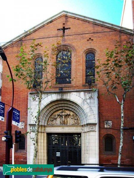 Església de la Santíssima Trinitat, façana de la Rambla