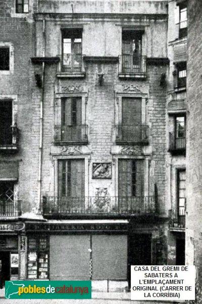 Barcelona - Casa del Gremi de Sabaters a l'emplaçament original
