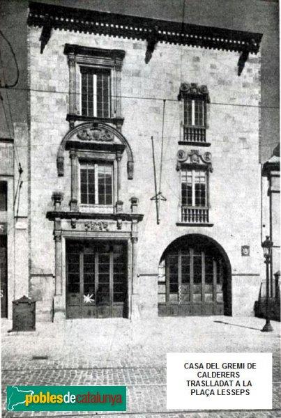 Barcelona - Casa del Gremi de Calderers a la plaça Lesseps