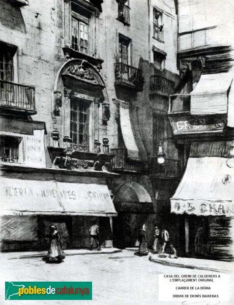 Barcelona - Casa del Gremi de Calderers, emplaçament original