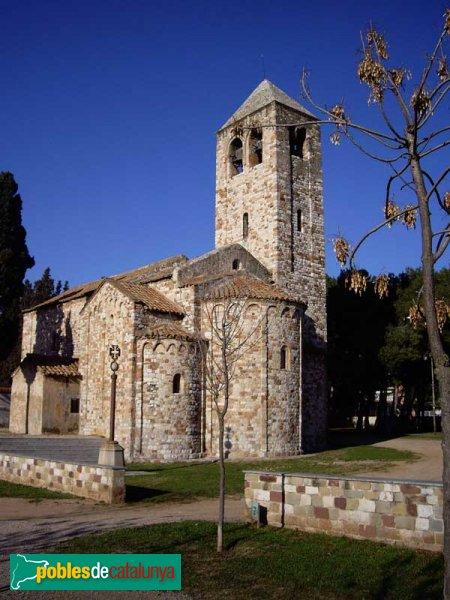 Barberà del Vallès - Santa Maria de Barberà , vista posterior