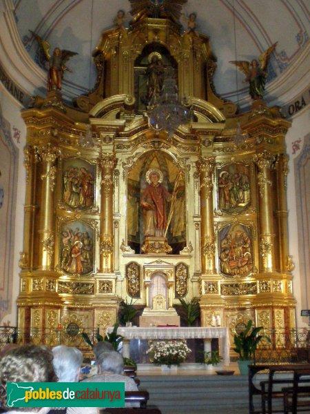 Selva de Mar - Església - Retaule Sant Sebastià