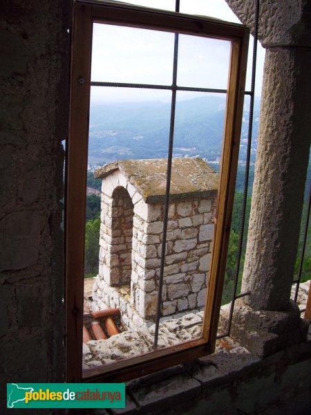 El campanar de l'Ermita del Puig de la Creu, vist des del torreó
