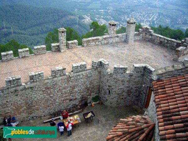 El pati del Puig de la Creu vist des del torreó