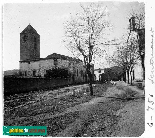 Campanar [i rectoria] de l'església vella de Sentmenat