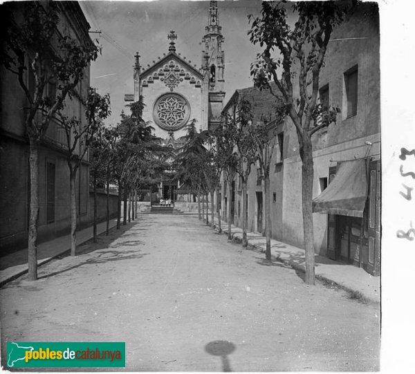Vista de l' església de Castellar del Vallès