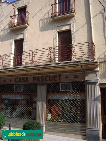 Casa Pascuet, al número 33 del carrer Major