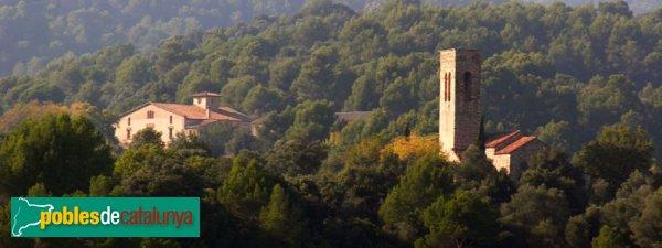 Can Sallent i Castellar Vell, vistos des de prop de Ca n'Oliver