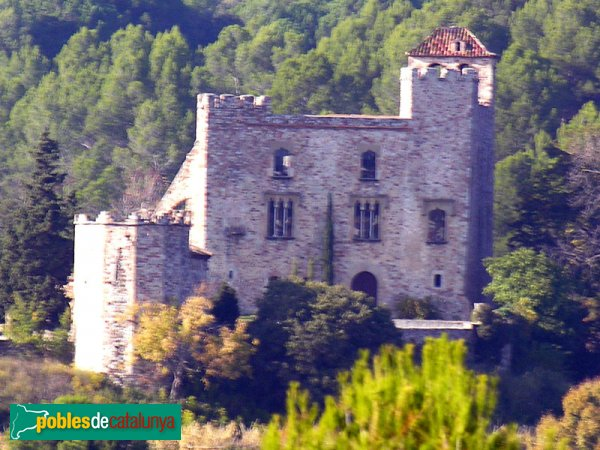 Castell de Clasquerí, vist des dels volts de Ca n'Oliver