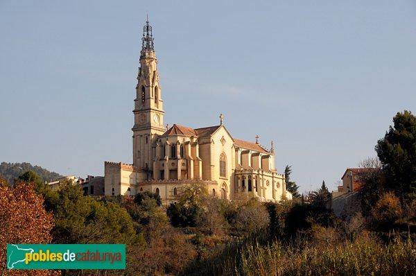 L'Església de Sant Esteve, des de ponent