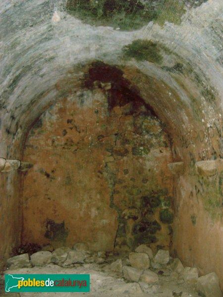 Palafolls - Castell: la cisterna