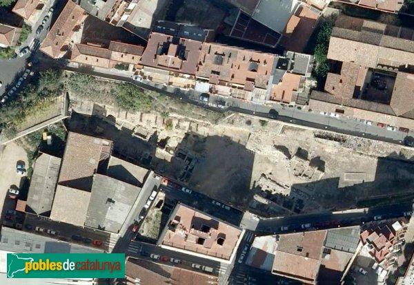 Tarragona - Ruïnes del Teatre Romà, vista aèria