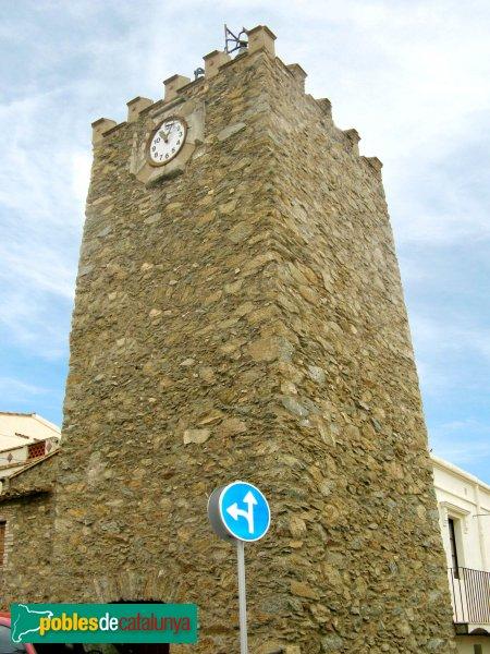 Palau-saverdera - Castell, torre de les Hores