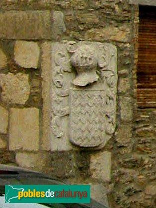Palau-saverdera - Castell, escut dels Vilarig