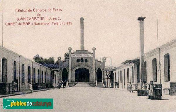 Canet - Fàbrica Carbonell Reverter (postal antiga)