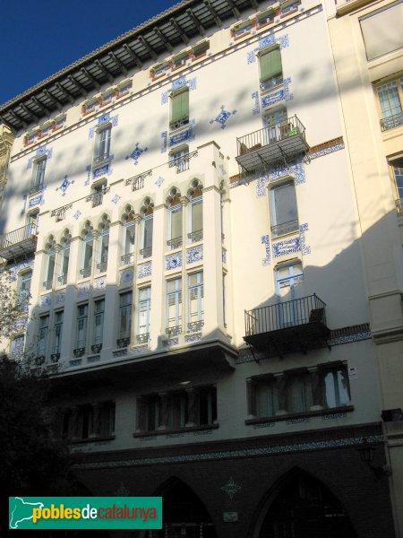 Barcelona - Casa Pomés, façana posterior