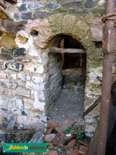 Hostalets de Pierola - Sant Pere de Pierola, porta del campanar romànic