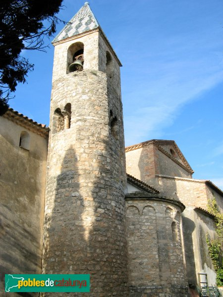 El Bruc - Església de Santa Maria, absis i campanar