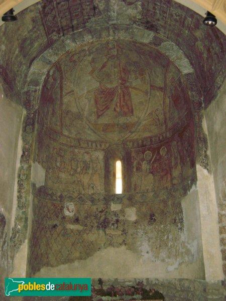 El Bruc - Església de Santa Maria, pintures de l'absis