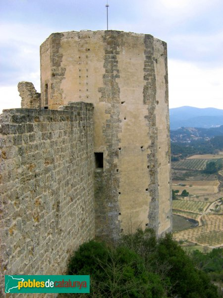 La Pobla de Claramunt - Castell: torre mestra
