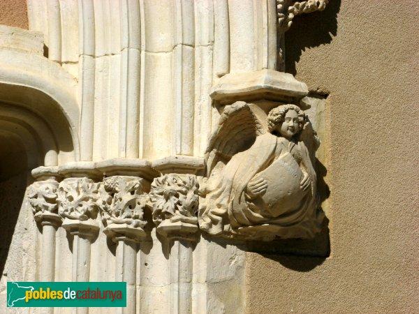 Orpí - Santa Càndia, detall de la porta