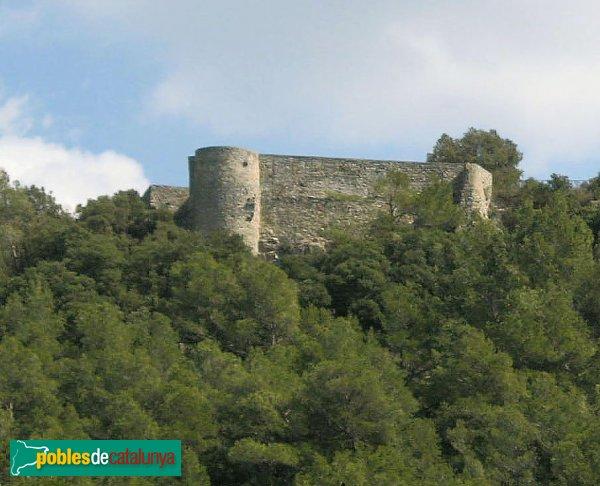 La Llacuna - Castell de Vilademàger, muralla