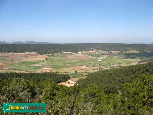 La Llacuna - Vista des del castell