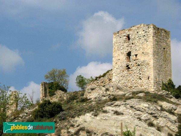 Santa Maria de Miralles - Castell de Miralles, torre exterior