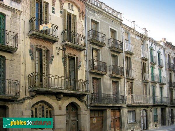 Igualada - Casa Balcells i carrer Soledat