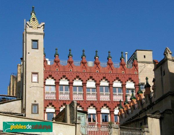 Igualada - Cal Ratés, façana posterior