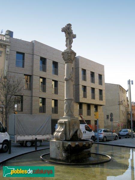 Igualada - Font de la plaça de la Creu