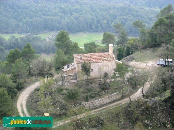 Bellprat - Sant Jaume de Queralt, des del camí del castell