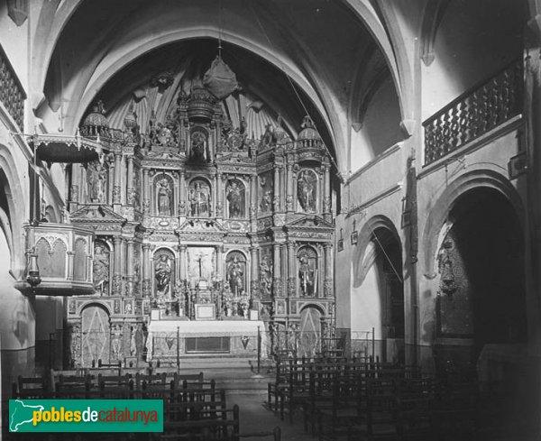 Jorba - Església de Sant Pere, retaule barroc, cremat el 1936 (2)