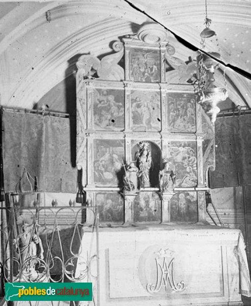 Jorba - Església de Sant Pere, retaule cremat el 1936
