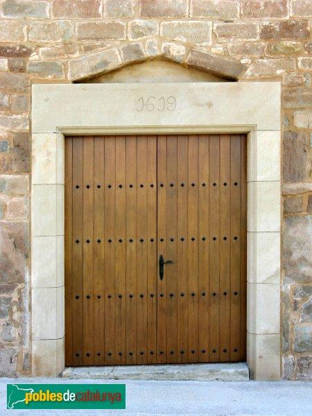 Jorba - Església de Sant Genís, portada