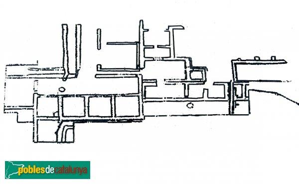 Òdena - Vil·la romana de l'Espelt, planta