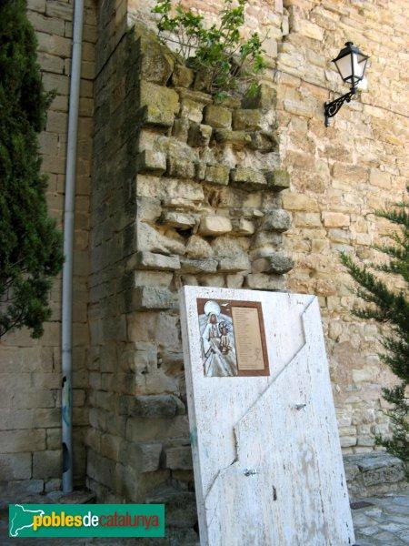 Sant Martí de Tous - Església de Sant Martí, mur antic