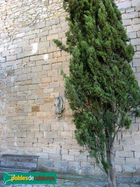 Sant Martí de Tous - Església de Sant Martí , mur antic