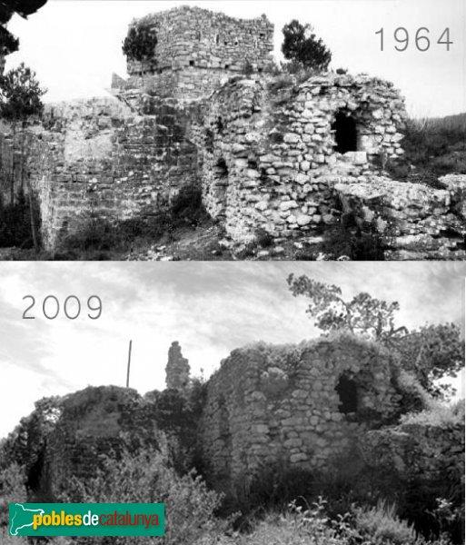 Castellolí - Evolució de les restes del castell, 1964-2009