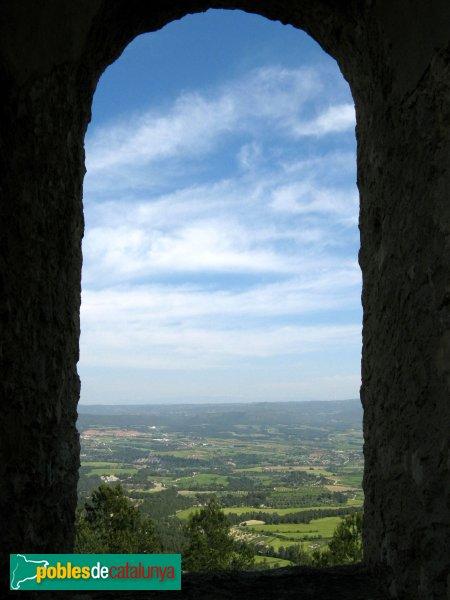 Santa Margarida de Montbui - panoràmica des del castell de Montbui