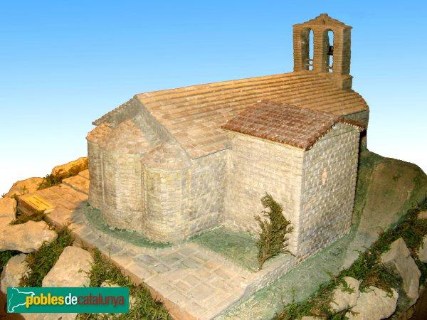 Santa Margarida de Montbui - Santa Maria de la Tossa , maqueta