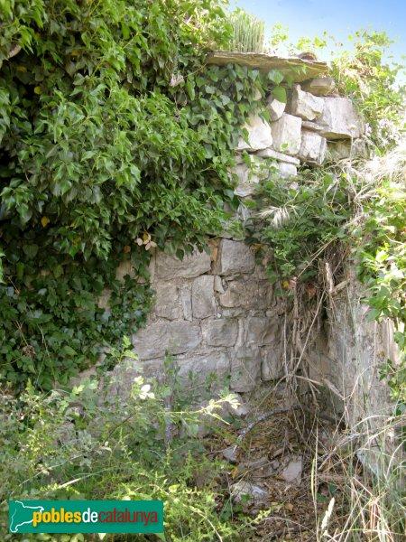 Prats de Rei - Sant Jaume de Puigdemàger, mur lateral