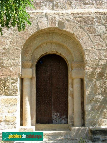 Veciana - Església de Santa Maria, portada
