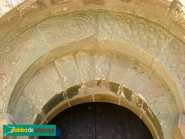 Veciana - Església de Santa Maria, detall portada