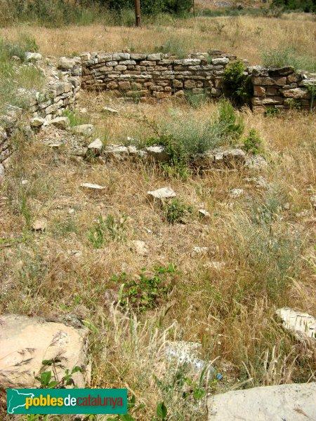 Veciana - Església de Santa Maria, restes medievals