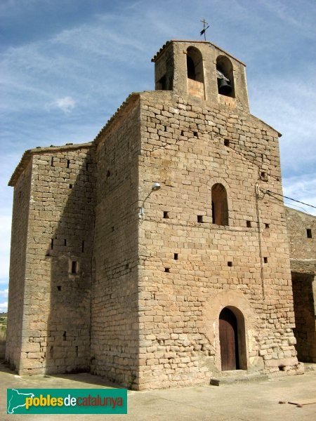 Veciana - Sant Pere del Vim, façana