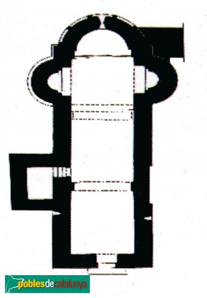 Veciana - Sant Pere del Vim, planta