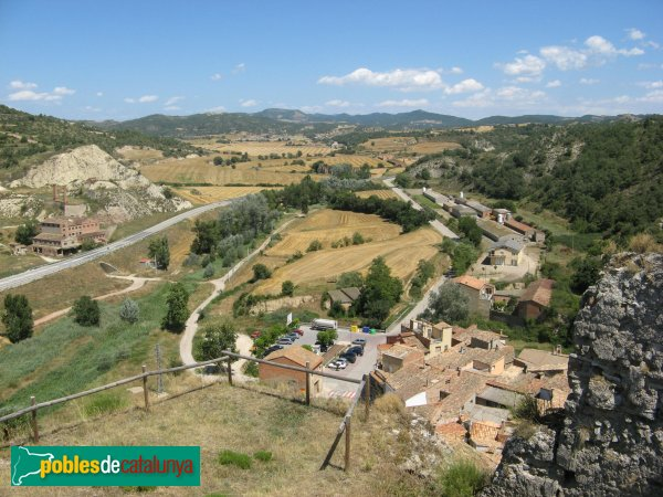 Castellfollit de Riubregós - Panoràmica des del castell