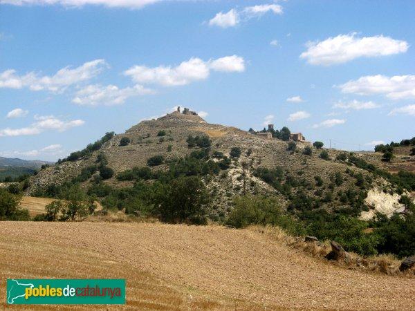 Calonge de Segarra - Castell de Calonge i església de Santa Fe